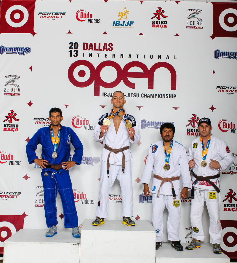 casey leonard 2013 ibjjf dallas open double gold in brown belt division