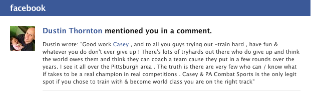Dustin FB testimonial