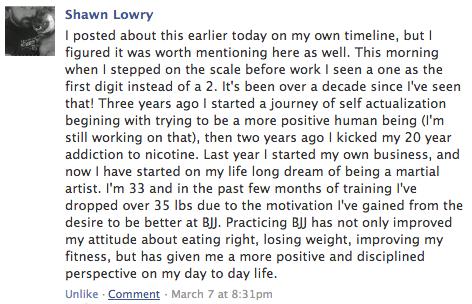 Shawn Lowry bjj testimonial