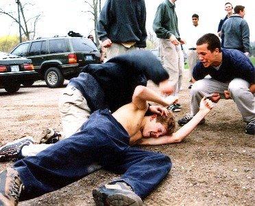 Street fight grappling
