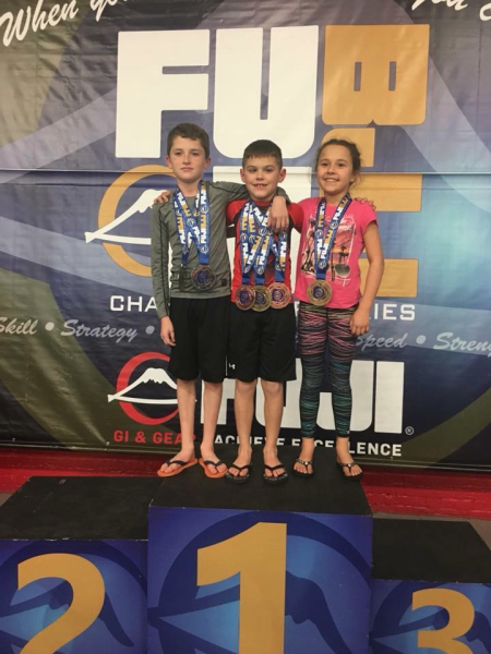 Kids bjj podium group