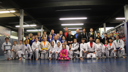 Kids bjj group promotion janury 2018